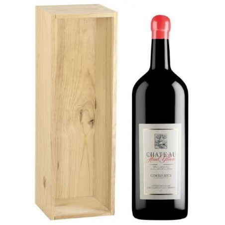 Château Haut Gléon CORBIERES Red wine PDO 3 L in its wooden case