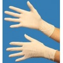 Latex gloves size M (7/8) disposable, dispenser box of 100 gloves