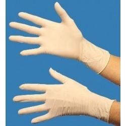 Gants en latex taille M (7/8) à usage unique, boîte distributrice de 100 gants