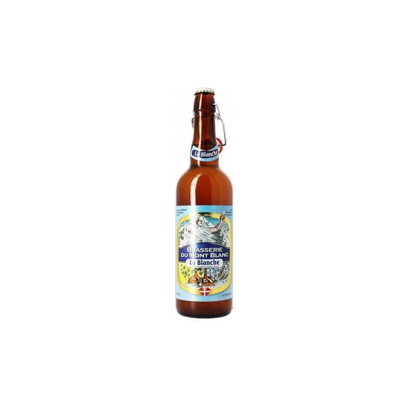 Cerveza MONT BLANC LA BLANCHE Blanco Francia 4.7 ° 75 cl