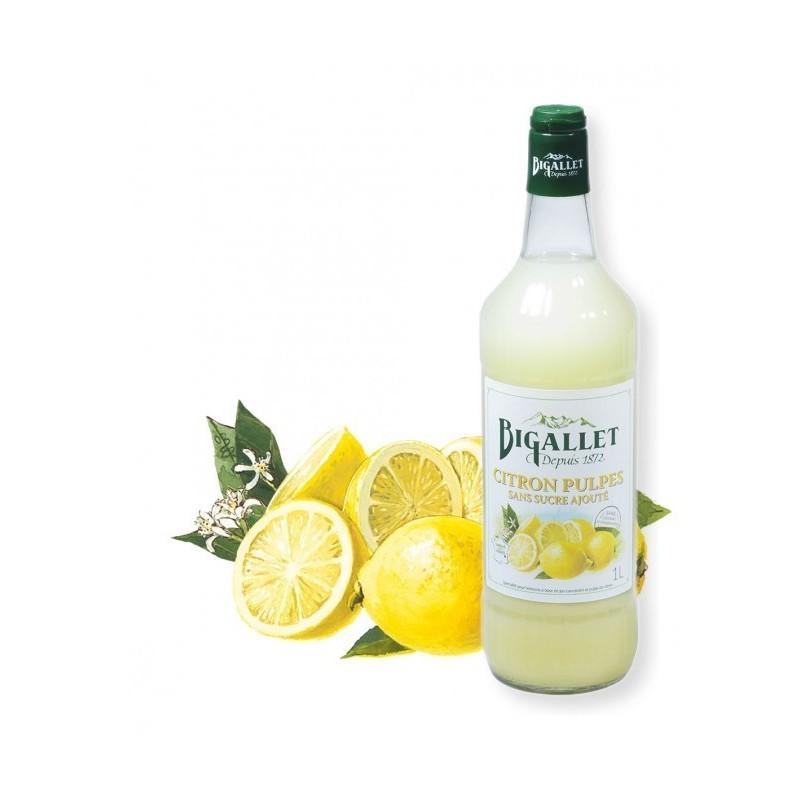 Lemon syrup Pulp Without sugar Bigallet 1 L