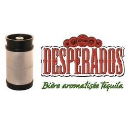 Bière DESPERADOS Blonde Française 5.9° fût de 20 L tête pointue (30 EUR de consigne comprise dans le prix)