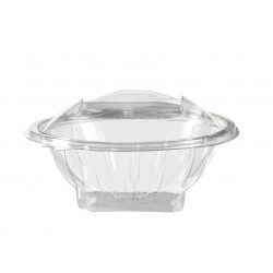 Transparent crystal plastic bowl with lid 370 cc - 50's