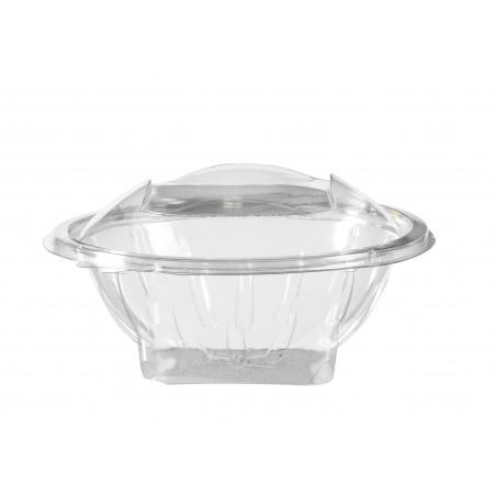 BOL en plastique Cristal transparent avec couvercle 370 cc - les 50