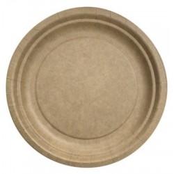 Plato redondo ø 23 cm Kraft Biodegradable - El 50