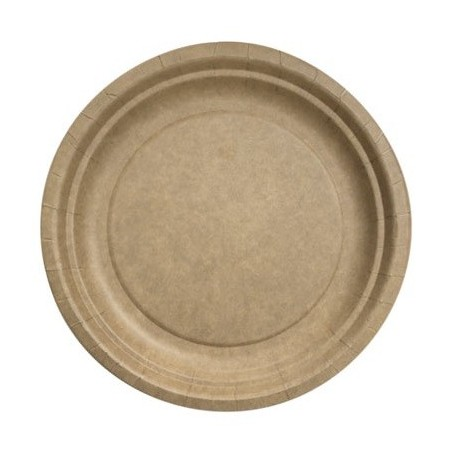 Round plate ø 23 cm Kraft Biodegradable - the 50