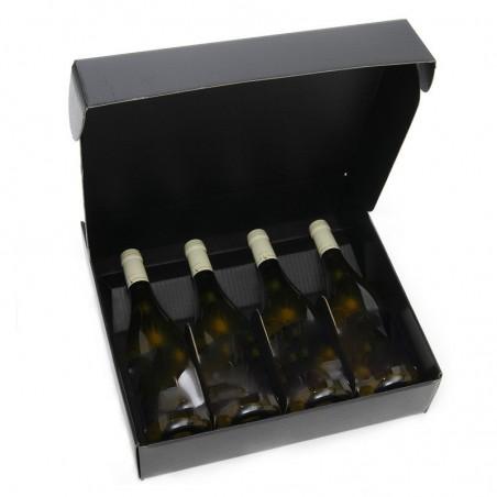 Karton SCHWARZ für 4 Flaschen aller Größen