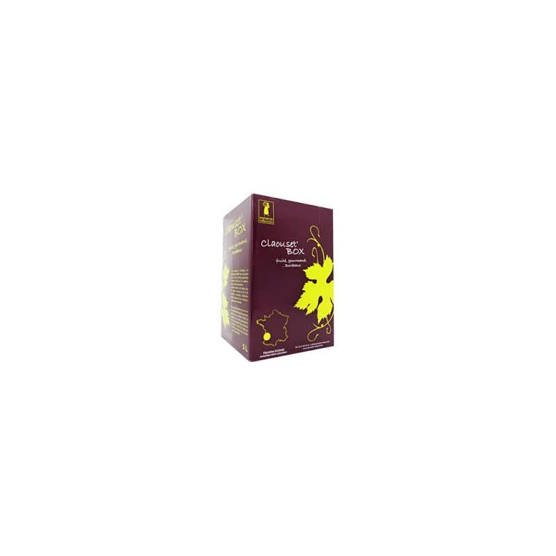 La Claouset 'Box Vineyard Siozard BORDEAUX Red Wine PDO BIB wine fountain 10 L