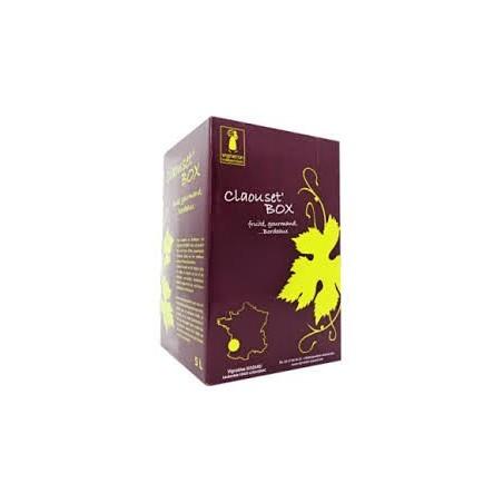 La Claouset' Box Vignoble Siozard BORDEAUX Vin Rouge AOP Fontaine à vin BIB 10 L