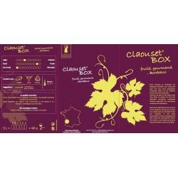 La Claouset 'Box Vineyard Siozard BURDEOS Vino tinto DOP BIB fuente de vino 10 L