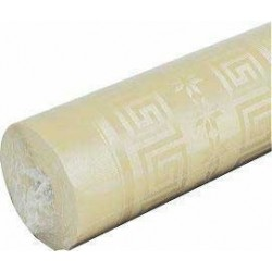 Ivory tablecloth in damask paper width 1.20 m - the roll of 25 m
