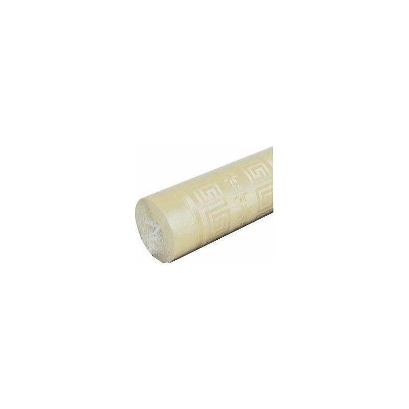 Nappe Ivoire en papier damassé largeur 1,20 m - le rouleau de 25 m