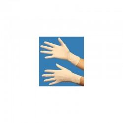 Gants en latex taille L (8/9) à usage unique, boîte distributrice de 100 gants