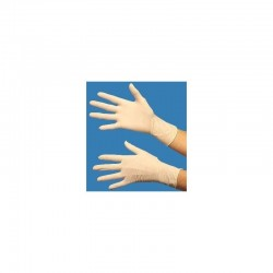 Latex gloves size L (8/9) disposable, dispenser box of 100 gloves