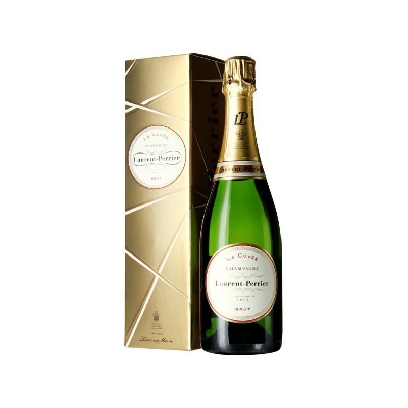 Laurent-Perrier La Cuvée CHAMPAGNE BRUT Vino bianco DOP 75 cl nella sua cassa dorata