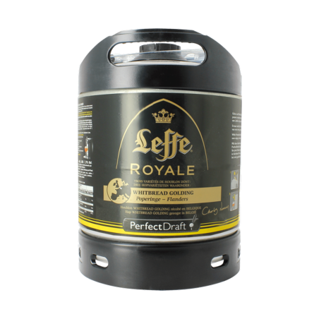 Beer LEFFE ROYALE Ambrée Belge 7.5 ° barrel 6 L for Philips Perfect Draft machine (7.10 EUR set included in the price)