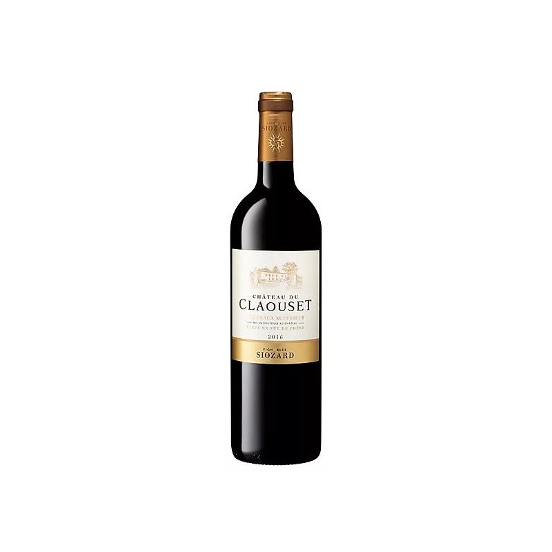 Château du Claouset BORDEAUX SUPERIEUR Vin Rouge Fût de Chêne AOC 150 cl