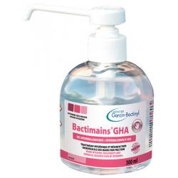 GEL Hydroalcoolique Bactimains GHA 300 ml avec pompe de 4 ml