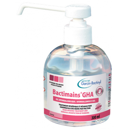 Hydroalcoholic GEL Bactimains GHA 300 ml with 4 ml pump