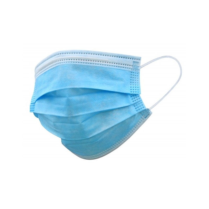 Disposable 3 ply facial mask with CE certification - box of 50