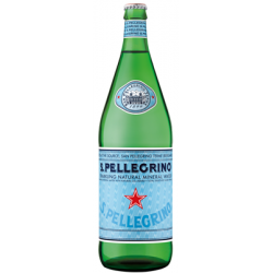 SAN PELLEGRINO water - 12 bottles of 1 L in returnable glass (deposit of 4.20 € included in the price)
