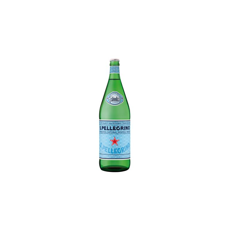 Eau SAN PELLEGRINO - 12 bouteilles de 1 L en verre consigné (consigne de 4,20 € comprise dans le prix)