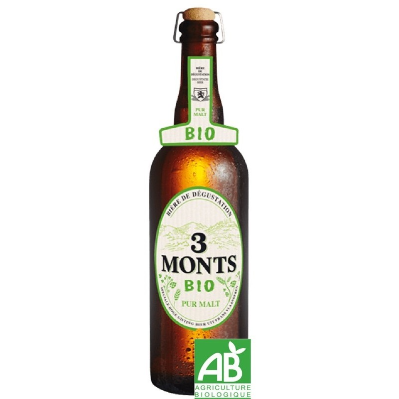 Beer 3 MONTS organic Blonde France 6.5 ° 75 cl