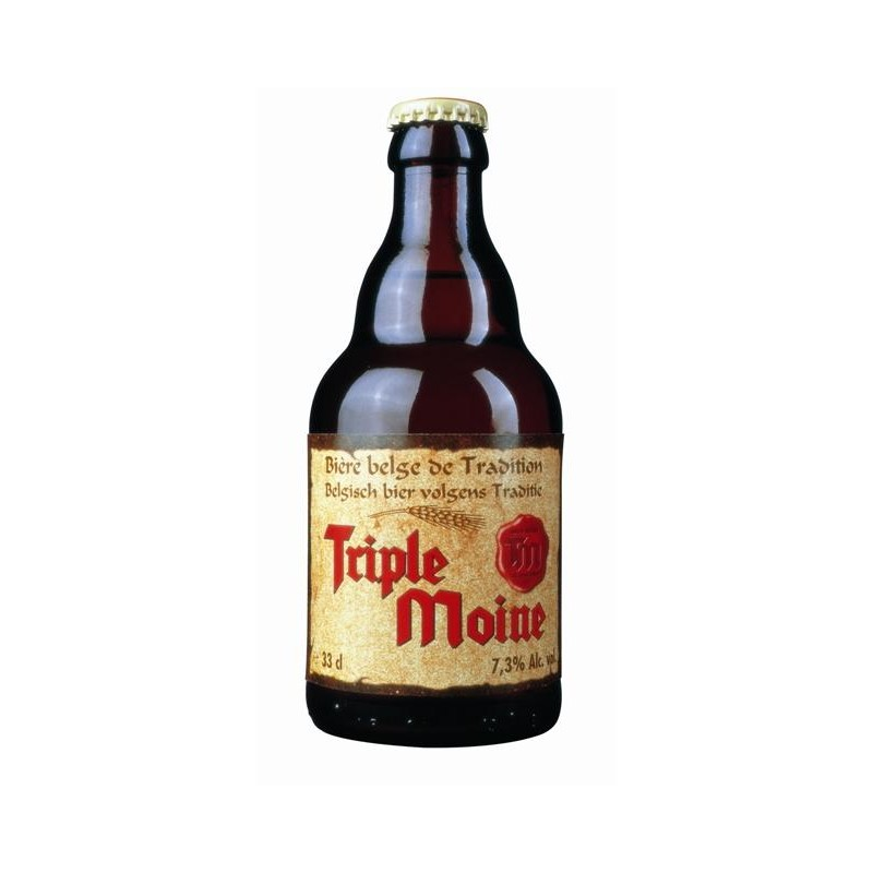 TRIPLE MOINE Triple Belgian beer 7.3 ° 33 cl