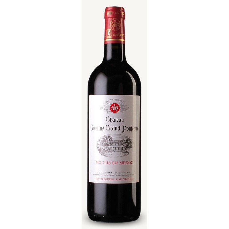 Chateau Granins Grand Poujeaux MOULIS Red Wine AOC 75 cl
