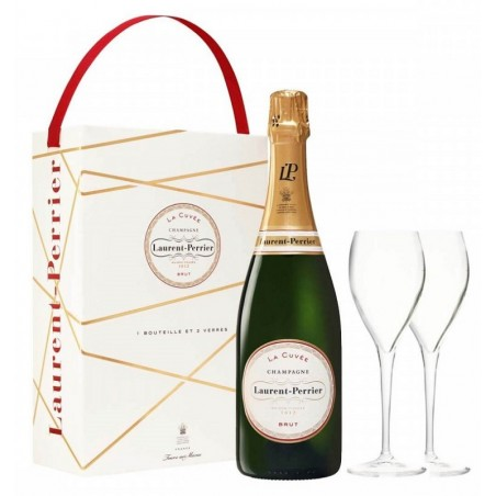 Laurent-Perrier The Cuvée CHAMPAGNE BRUT White wine PDO 75 cl in its box with 2 flutes