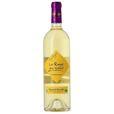La rabia del Sol Mas Peyre Muscat de Rivesaltes vino blanco dulce natural 75 cl AOC orgánico