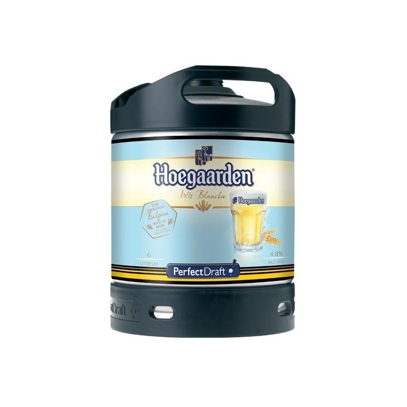 Bière HOEGAARDEN Blanche Belge 4.9° fût de 6 L /machine Perfect Draft de Philips (7.10 EUR de consigne comprise dans le prix)