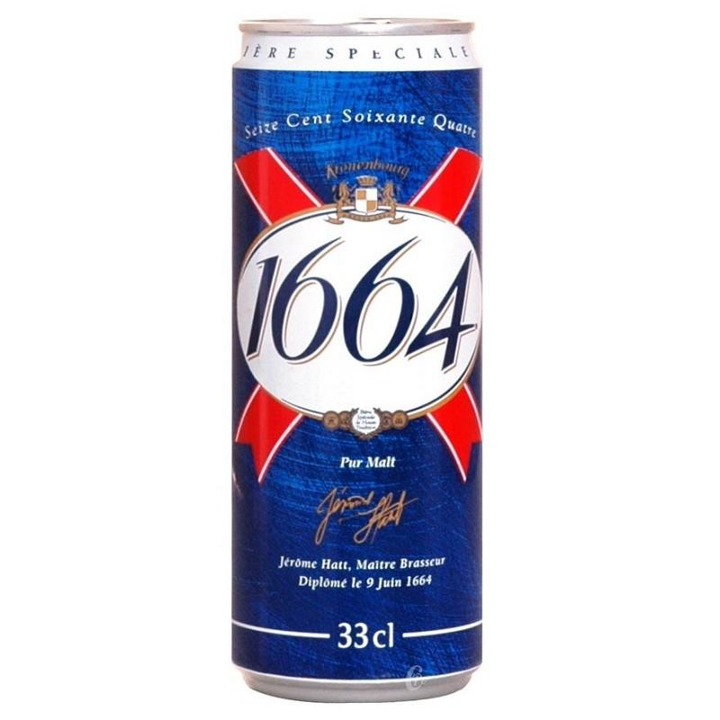 Bière 1664 Blonde Française 5.5° boîte métal 33 cl