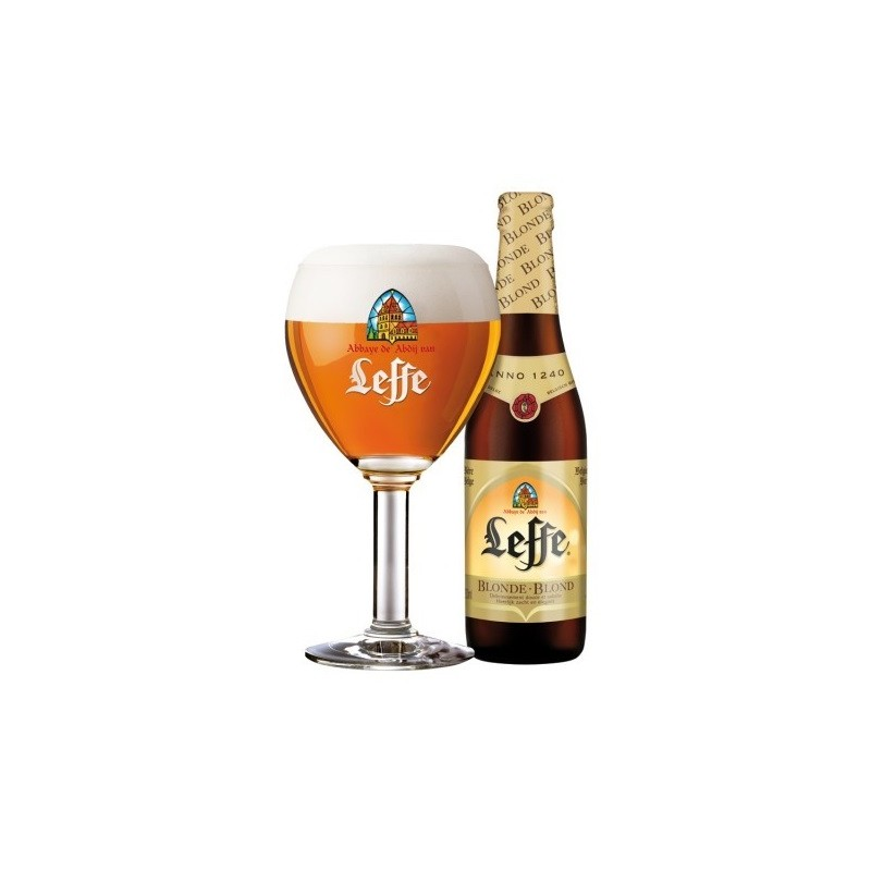 birra bionda LEFFE belga 6.6 ° - 24 33 cl in vetro a rendere (insieme di 4,20 € incluso nel prezzo)