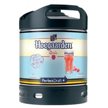 Bière HOEGAARDEN Rosée Belge 3° fût de 6 L pour machine Perfect Draft de Philips (7.10 EUR de consigne comprise dans le prix)