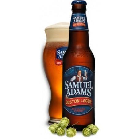 Beer SAMUEL ADAMS BOSTON LAGER Amber USA / Massachusetts 4.8 ° 33 cl