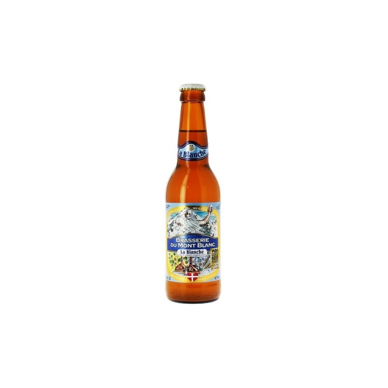 Beer MONT BLANC LA BLANCHE White France 4.7 ° 33 cl