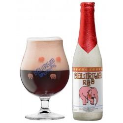 Cerveza DELIRIUM TREMENS RED Rubia con frutos rojos belga 8 ° 33 cl