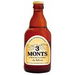 Beer of 3 MONTS Blonde France 8.5 ° 33 cl