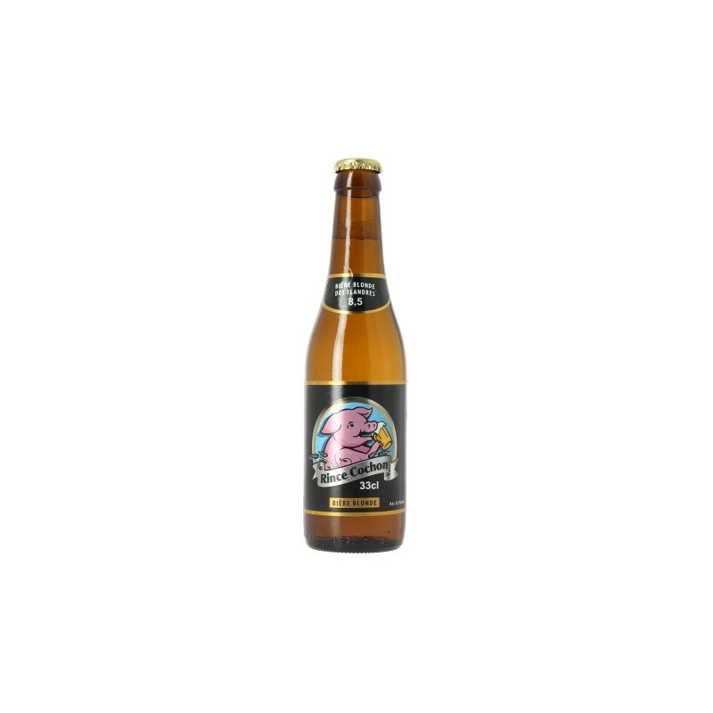 Beer RINCE COCHON Blond Belgian 8.5 ° 33 cl