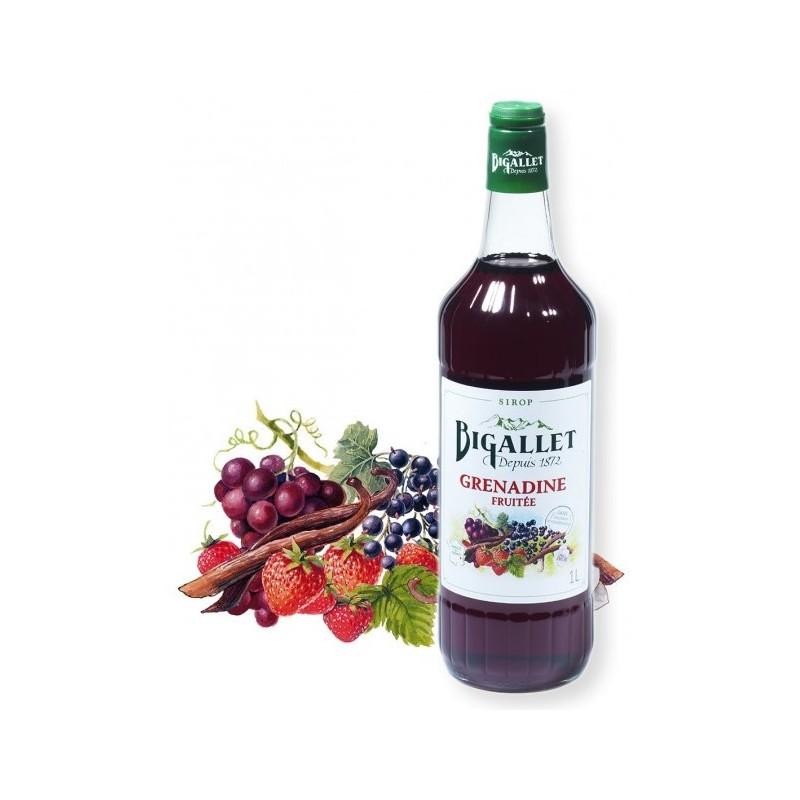 Bigallet granadina con sabor a fruta JARABE 1 L
