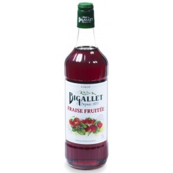 Strawberry syrup Fruity Bigallet 1 L