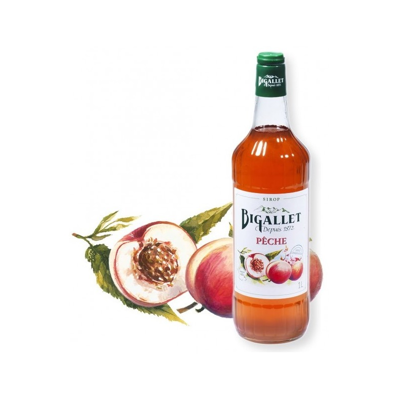 peach syrup Bigallet 1 L