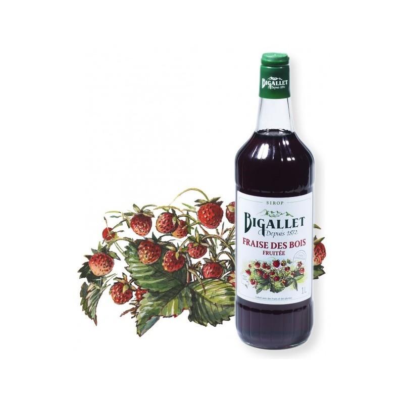 JARABE de fresa silvestre Bigallet 1 L