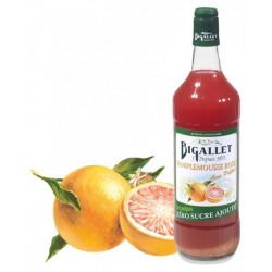 Grapefruit Syrup Pulps Sugar Free Bigallet 1 L