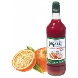 SIROP d'Orange Sanguine Pulpes Sans sucre Bigallet 1 L