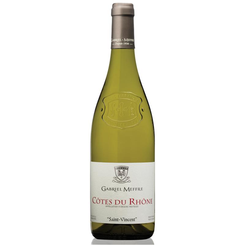 Saint Vincent Gabriel Meffre COTES DU RHONE White Wine PDO 75 cl