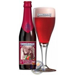 Bière TIMMERMANS FRAISE Blonde Belge 4° 33 cl