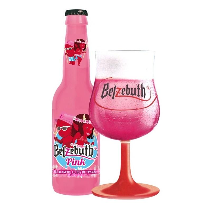 Bière BELZEBUTH PINK Blanche à la frarmboise Française 2,8° 33 cl