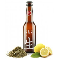 Cerveza Rubia Ecológica IKI con Yuzu y Té Verde Japonés 4.5 ° 33 cl